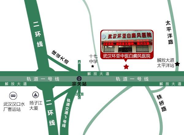 武汉环亚白癜风医院来院线路